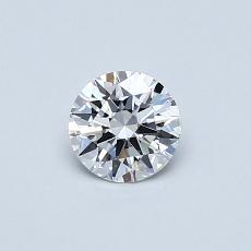 0.40 Carat 圆形 Diamond 理想 D VVS2