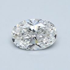 0.71 Carat 橢圓形 Diamond 非常好 F SI2