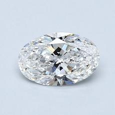 0.71 Carat 椭圆形 Diamond 非常好 F VS2