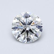 0.90 Carat 圆形 Diamond 理想 G SI1