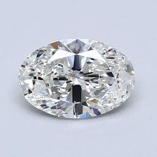 1.00-Carat Oval Diamond Very Good G VVS2