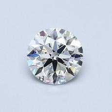 0.64-Carat Round Diamond Ideal D VVS2