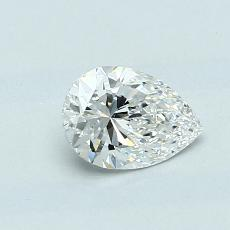 0.55-Carat Pear Diamond Very Good F VVS1