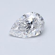 0.61-Carat Pear Diamond Very Good D FL