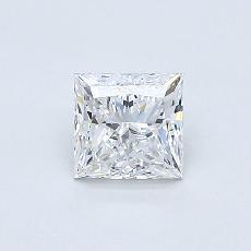 0.50-Carat Princess Diamond Very Good E VVS2