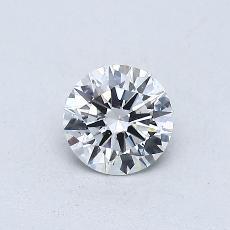 0,40-Carat Round Diamond Ideal D SI1