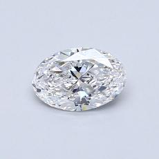0.50 Carat 椭圆形 Diamond 非常好 D VVS2