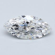 0.81-Carat Marquise Diamond Very Good D SI2