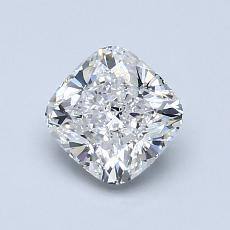 1.00-Carat Cushion Diamond Very Good E VVS2