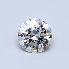 推薦鑽石 #3: 0.60 克拉圓形切割鑽石