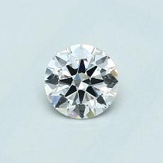 0.40 Carat 圆形 Diamond 理想 E VVS1
