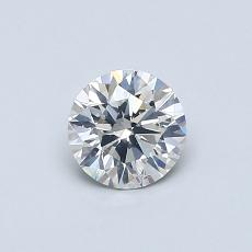 0.51-Carat Round Diamond Ideal I SI2