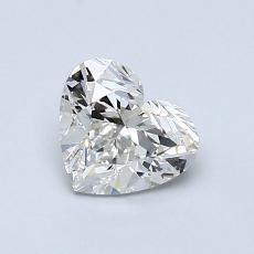 0.80-Carat Heart Diamond Very Good H SI1