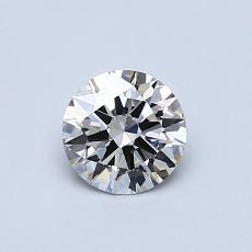 0.50 Carat 圓形 Diamond 理想 I VS1