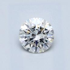 0,60 Carat Rond Diamond Idéale G VS2