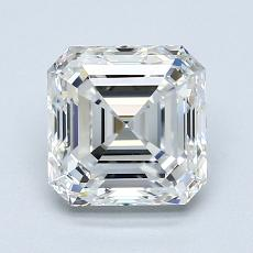 1,80-Carat Asscher Diamond Very Good F VVS2