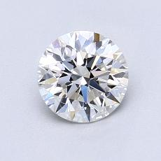 0.91-Carat Round Diamond Ideal E VVS2