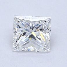1.00-Carat Princess Diamond Very Good F SI1