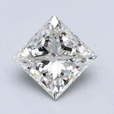 1,00-Carat Princess Diamond Very Good I VS2