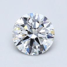 1,00-Carat Round Diamond Ideal G VVS2