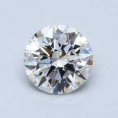 1.00-Carat Round Diamond Ideal H IF