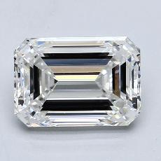 2.50-Carat Emerald Diamond Very Good F VVS1