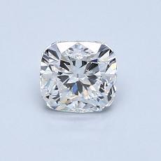 ターゲットの石:0.82カラットのクッションカットダイヤモンド