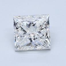 1.20 Carat 公主方形 Diamond 非常好 H VS1