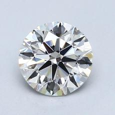 0,90-Carat Round Diamond Ideal H VS2