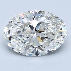 2.01-Carat Oval Diamond Very Good G VS2