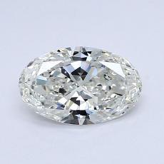 0,72-Carat Oval Diamond Good I VVS1