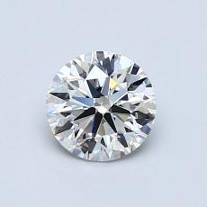 0.77-Carat Round Diamond Ideal I VS1