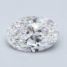 1.20 Carat 椭圆形 Diamond 非常好 D IF