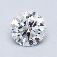 0.93-Carat Round Diamond Ideal D IF