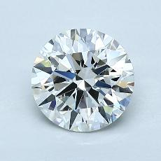 1,21-Carat Round Diamond Ideal H VVS2
