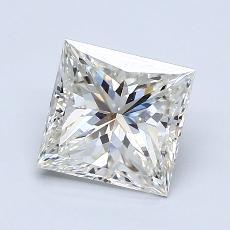 1.71 Carat 公主方形 Diamond 非常好 J VS2
