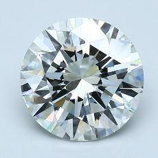 2.00 Carat 圆形 Diamond 非常好 I VS2