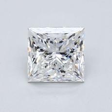 1.02 Carat 公主方形 Diamond 非常好 E VVS1