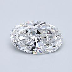 0.75 Carat 椭圆形 Diamond 非常好 D VVS1