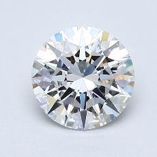 1.01 Carat ラウンド Diamond アイデアル D FL