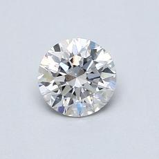 0.50 Carat 圆形 Diamond 理想 E SI1