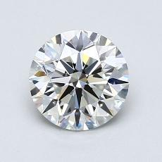 1,05-Carat Round Diamond Ideal G VVS1