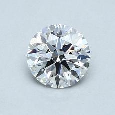 0.70 Carat 圆形 Diamond 理想 D VS1