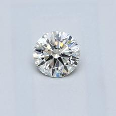 0.30-Carat Round Diamond Ideal J SI2
