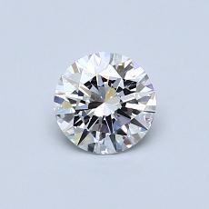 0.51 Carat 圓形 Diamond 理想 E IF
