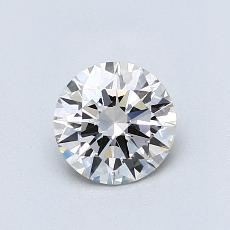 0,70-Carat Round Diamond Ideal J VVS2