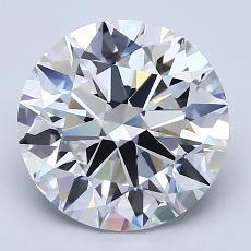 3.01-Carat Round Diamond Ideal F VVS2