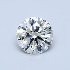 0,73-Carat Round Diamond Ideal J VVS2