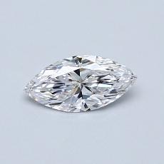 推薦鑽石 #1: 0.34  克拉欖尖形切割鑽石