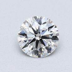 0,75-Carat Round Diamond Ideal F VVS2